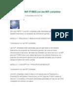 Comparacion NIIF PYMES Con Las NIIF Completas