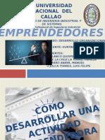 Emprendedores(desarrollo organizacional)