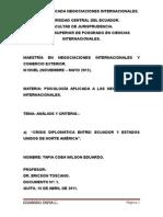 Crisis Diplomática Entre Ecuador y Estados Unidos de Norte América