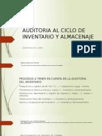 Auditoria Al Ciclo de Inventario y Almacenaje
