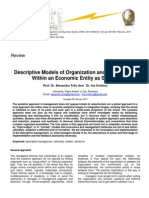 Descriptive Models of Organization and Management Within an Economic Entity as System