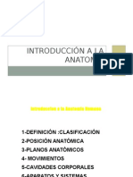 Introduccion a La Anatomia