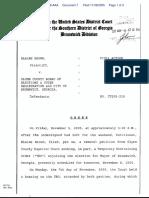 Brown v. Glynn County Board Of Elections & Voter Registration et al - Document No. 7