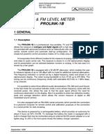 Manual Prolink 1B