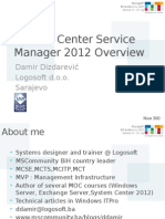 DDizdarevic ServiceManager2012 Overview