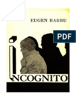 Eugen Barbu - Incognito Volum 1