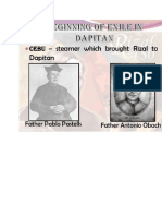 Final Examination  and Rizal exile in Dapitan