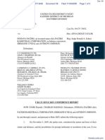 Haddad v. Indiana Pacers et al - Document No. 39