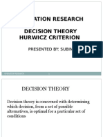 hurwicz criterion in decision therory.pptx