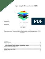 Geometics for Transportation Engineering