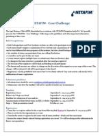 Netafim - Case Study Guidelines