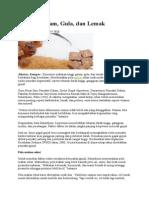 Bahaya Garam Gula Dan Lemak