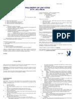154sdas62069 Philosophy of Law Notes