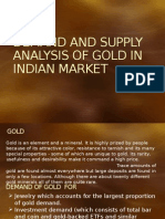 Demand and Supply Analysis of Gold in Indian