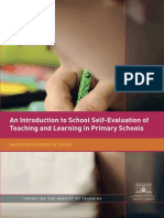 An Introduction to School Self Evaluation of Teaching and Learning in Primary Schools