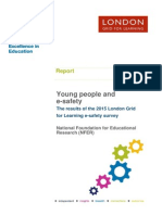 Young people and e-safety