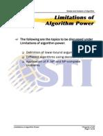 MELJUN CORTES ALGORITHM Limitations of Algorithm Power