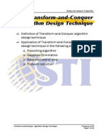 MELJUN CORTES ALGORITHM Transform-And-Conquer Algorithm Design Technique