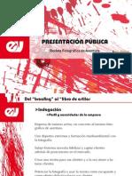 PresentaciÓn pÚblica