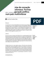 Sales_2011_As Cerimónias de Coroação Real Dos Ptolomeus_Formas de Reconfiguraçãopolítica Num País Multimilenar_ 5-16