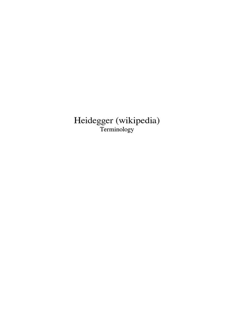 Heidegger terminology wikipedia martin heidegger being and time fandeluxe Gallery