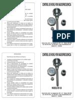 Manual de Instrucciones Control de Nivel