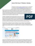Alojamiento, Alojamiento Web Linux Y Windows. Hosting Espana Arsys