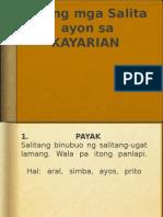 Kayarian Ng Salita