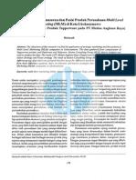 Analisis Strategi Pemasaran Dan Posisi Produk Perusahaan Multi Level Marketing Mlm Di Kota Lhokseumawe Studi Kasus Terhadap Produk Tupperware Pada Pt Medan Angkasa Raya