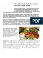 Exemplo De Comer Planos Para Redu??o De Peso - Siga O Guia Para Fazer O Seu Pr?prio Menu Pessoal