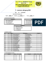 F - Junioren Jahrgang 2001