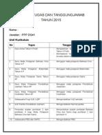 Senarai Tugas Dan Tanggungjawab