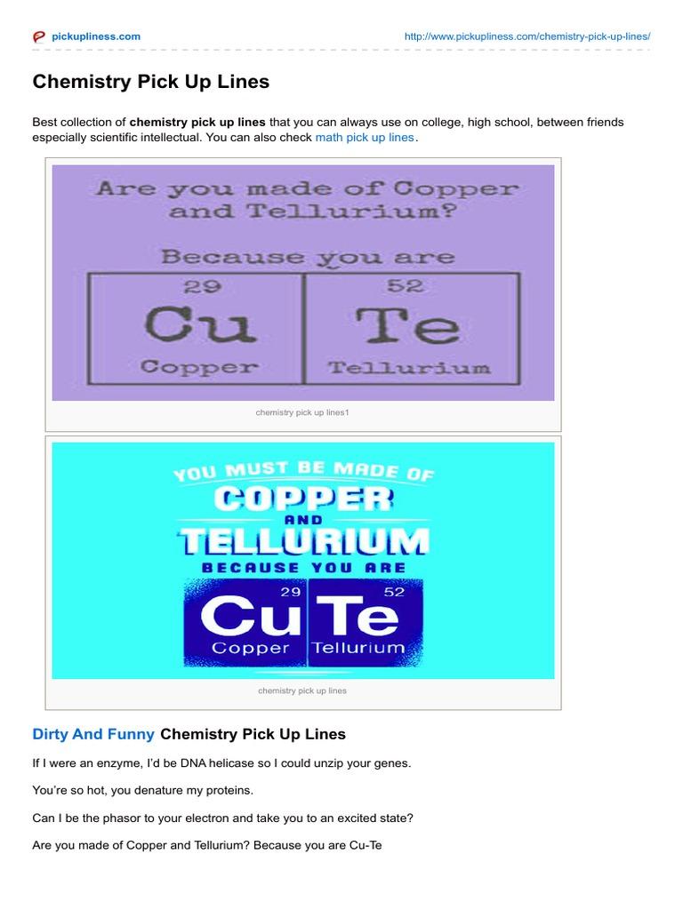 Chemistry pick up lines cellular respiration chemistry urtaz Images