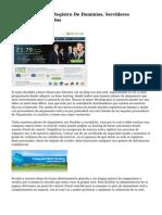 Alojamiento Web, Registro De Dominios, Servidores Virtuales Y Dedicados