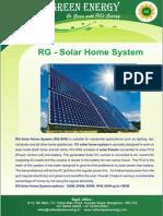 RG-Solar Home System
