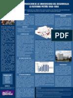 Poster Jose Felix Patiño R, Construcción de la universidad del desarrollo