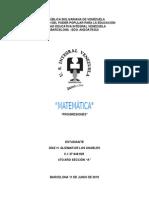 MATEMÁTICA PROGRESIONES ARITMÉTICAS
