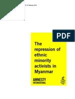 16Feb10 The Repression of ethnic minority activists in Myanmar