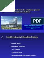 Edentulous Implant