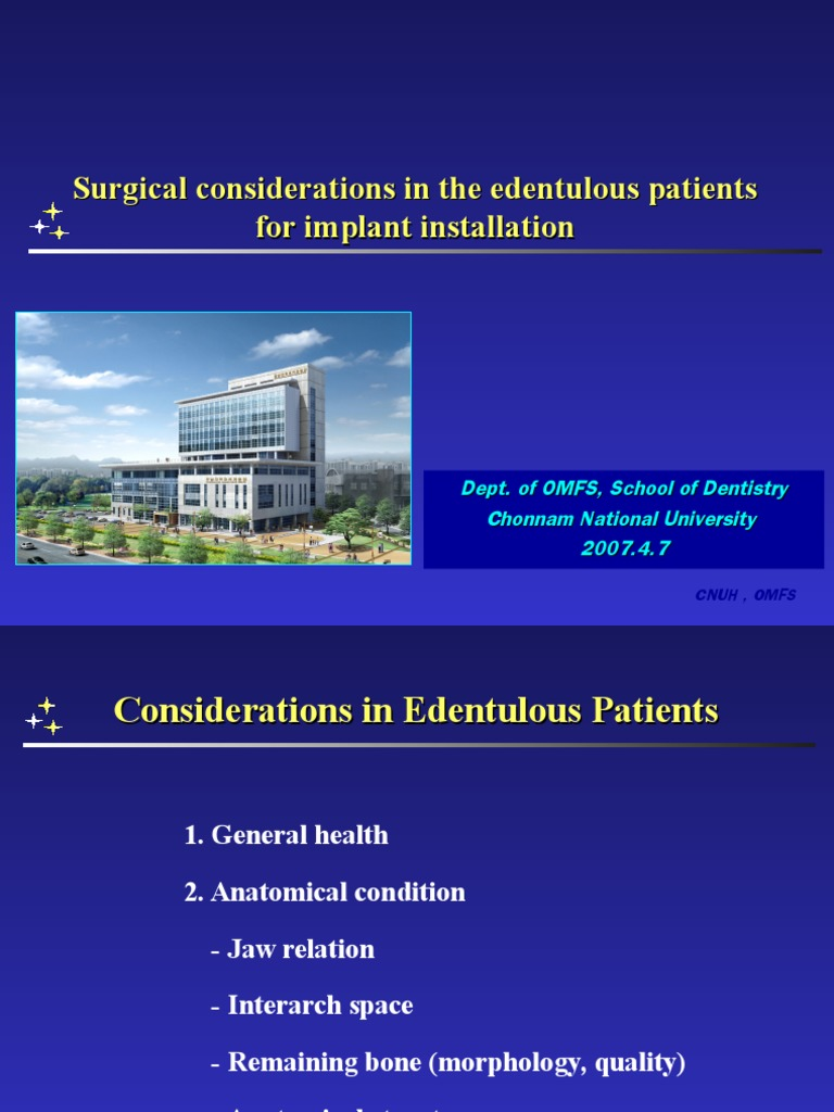 Edentulous Implant | Dental Implant | Human Anatomy