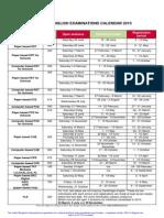 British Council Romania Cambridge English Examinations Calendar 2015 3