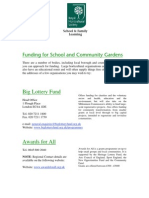 Funding for Schools and Community Gardens