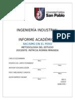 Informe Academico Racismo