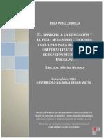 Julia-Perez-Zorilla Derecho a La Educación e Institucionalidad