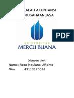 Makalah Akuntansi (Perusahaan Jasa)