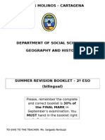 2ESO Summer Revision Booklet 2015