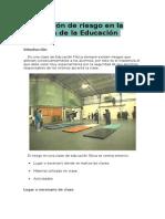Prevención de riesgo en la docencia de la Educación Física