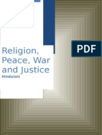 Religion, Peace, War and Justice