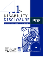 411 on Disability Disclosure
