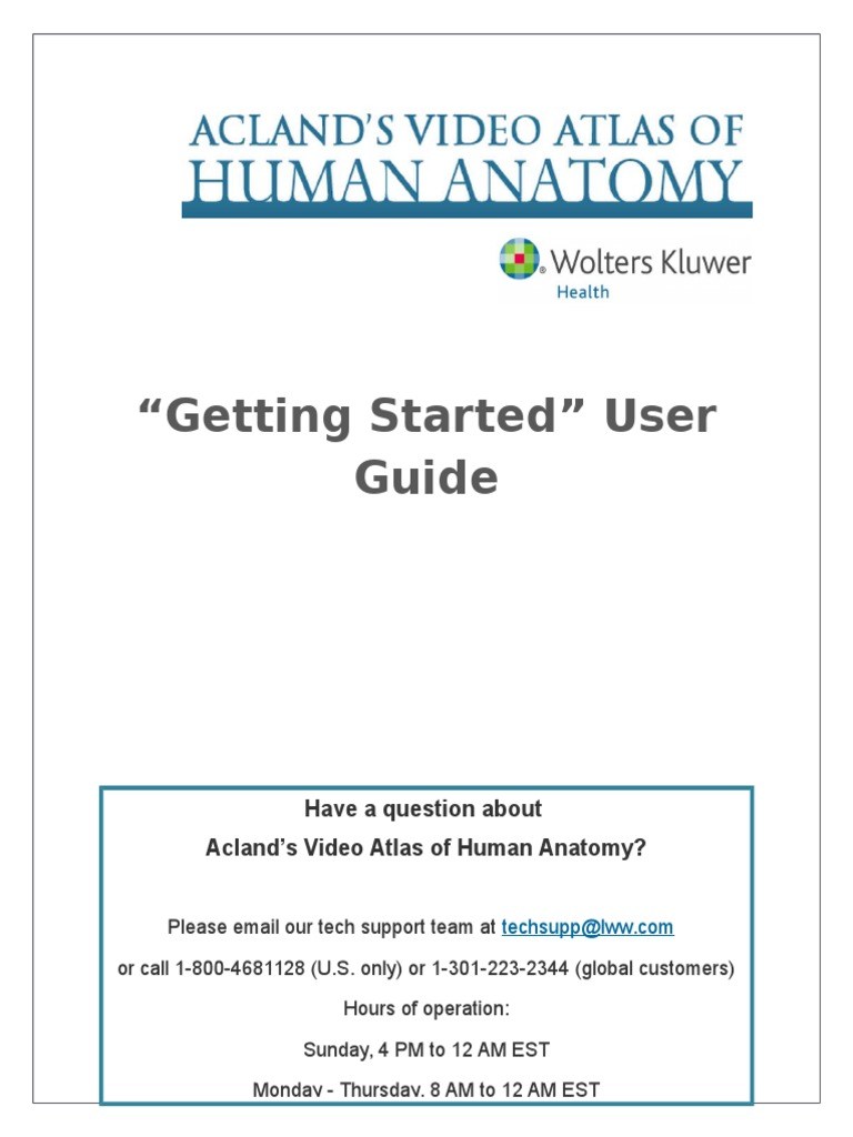 Acland User Guide Web Browser Test Assessment